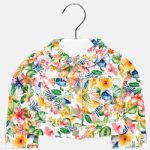 Mayoral 1419 Geranium Printed Jacket Available Sizes 12/18/24/36 Months . Spring/Summer 2019